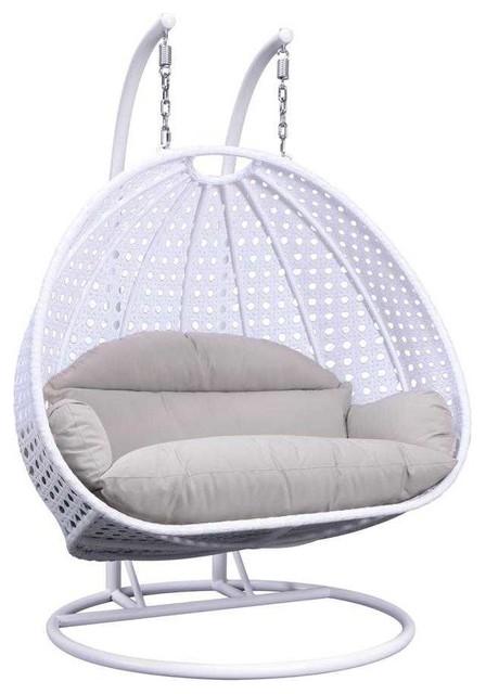 Wicker Double Hanging Egg Swing Chair