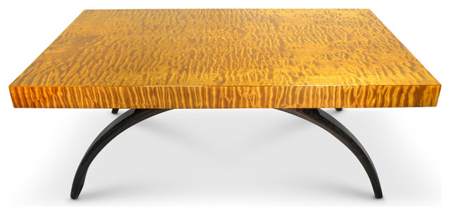 Captivating Quilted Maple Wood Coffee Table, Handmade Coffee Tables