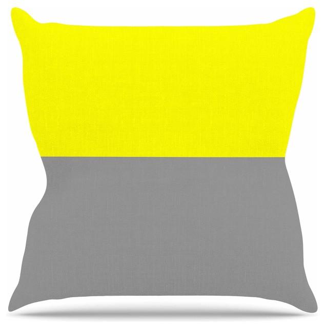 Outdoor Throw Pillows Yellow : Trebam