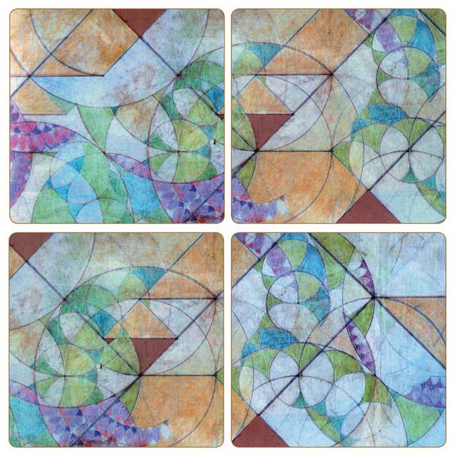 Frank Lloyd Wright Bougainvillea Stone Coasters Set Of 8