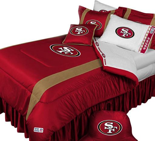 San Francisco 49ers Football Queen Full Bed Comforter Set