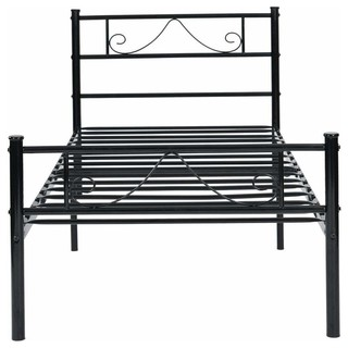 Miraculous Metal Single Bed Frame With Strong Headboard Footboard And Onthecornerstone Fun Painted Chair Ideas Images Onthecornerstoneorg
