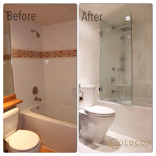Before and after bathroom renovation : home design from www.houzz.com size 500 x 500 jpeg 40kB