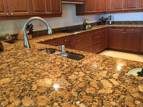 Busy Ugly Granite That Has To Stay....backsplash?