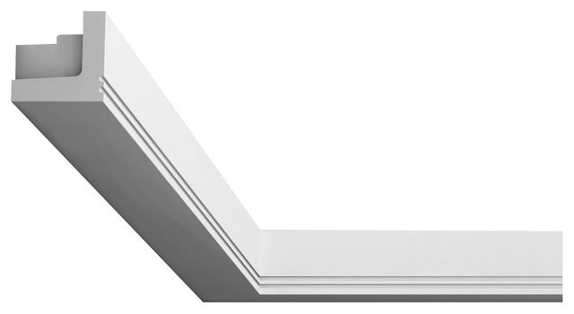 "Orac Decor Plain Polyurethane Crown Moulding For Indirect Lighting, Face: 2-3/4""."
