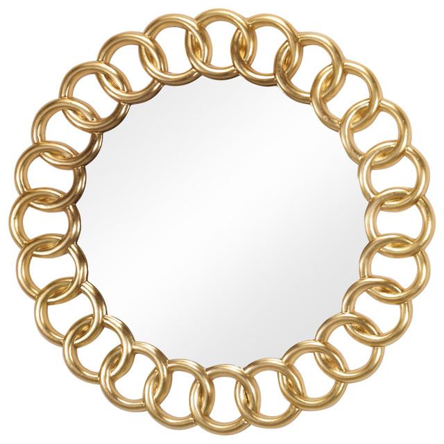 Lucrezia Gold Wall Mirror, 90x90 cm