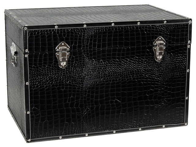 Superieur Faux Leather Black Trunk