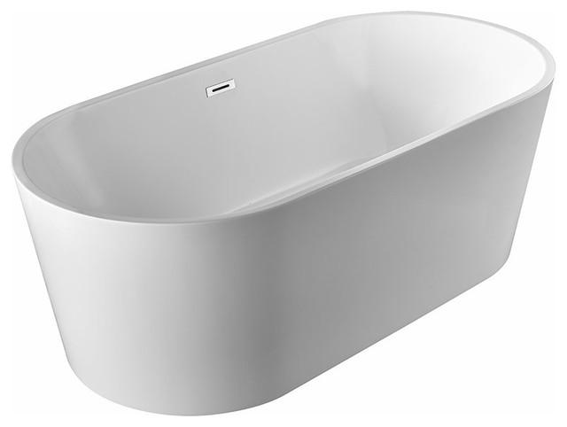 Karton Republic 60 Inch BT 03 Modern Freestanding Bathtub (Acrylic)    Contemporary   Bathtubs   By CARTIAN DESIGNu0026BUILD GROUP INC