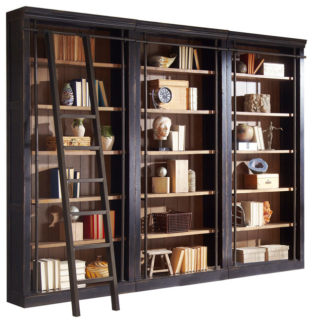 Alcott 3-Piece Bookcase Wall - Transitional - Bookcases ...