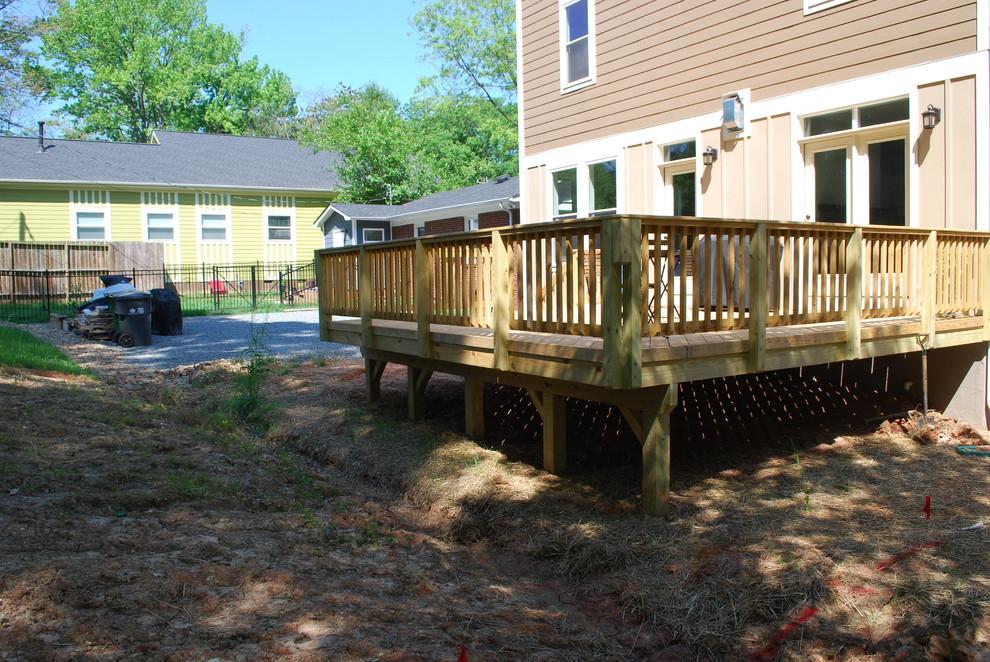 Backyard with drainage ditch.