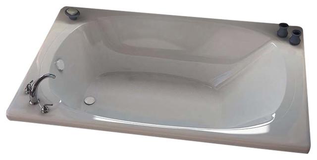 Venzi Aqui 48 X 78 Rectangular Soaking Bathtub With Center Drain By Atlantis.