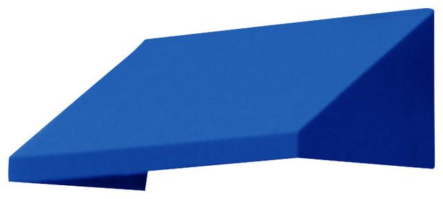 "5&x27; New Yorker Window Awning, 56"" Hx48"" D, Bright Blue."