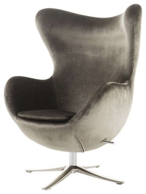 Superieur GDF Studio Gadot Gray New Velvet Modern Swivel Chair