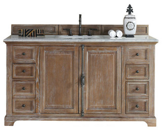 60 Vanity Cabinet Driftwood Traditional Bathroom Vanities And Sink Consoles By Luxury