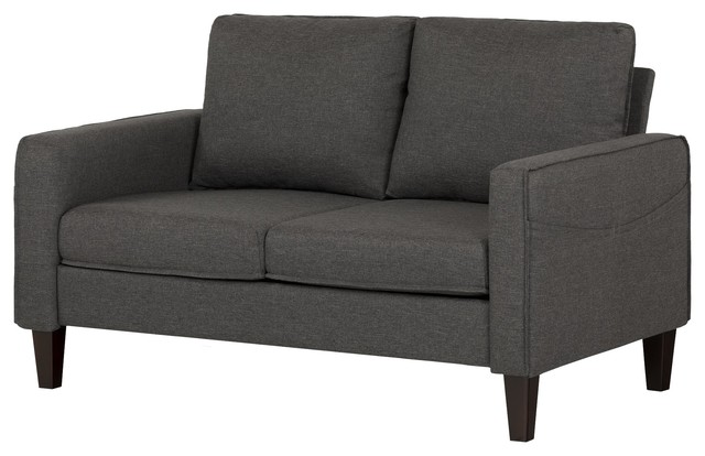 Marvelous South Shore Liveit Cozy Loveseat Charcoal Gray Alphanode Cool Chair Designs And Ideas Alphanodeonline