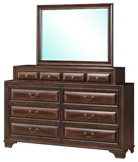 Global Furniture Dresser, Varnish Oak