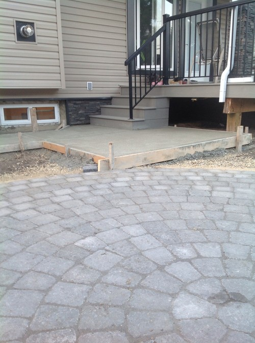 I M Looking For Ideas On How To Make This Less Of A Tripping Hazard While Providing Smooth Transition Between The Patio And Bbq Pad