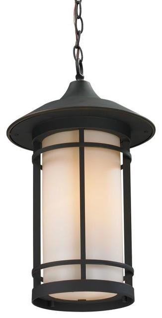 Z Lite 528chm Woodland 1 Light Outdoor Pendant With Matte Opal