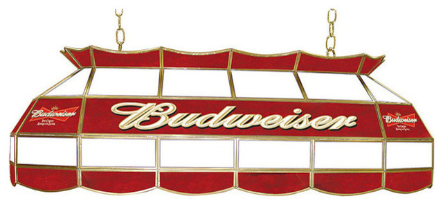 Budweiser Stained Glass Pool Table Light Traditional