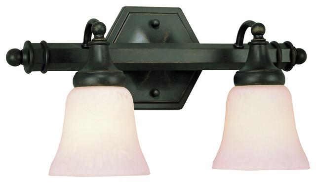 Brushed Nickel 2 Globe Vanity Bath Light Bar Interior: Trans Globe 2597 2-Light Bath Bar