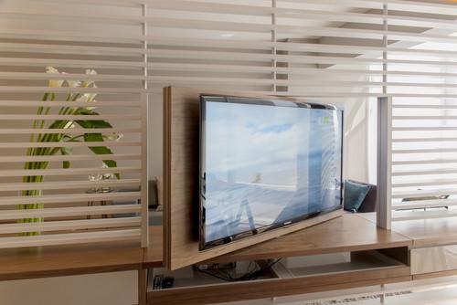Und Weg Ist Der Bildschirm Tv Mobel Mit Special Effects