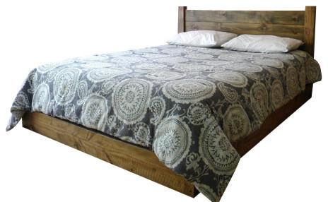 Low Profile Platform Bed Rustic Oak Twin