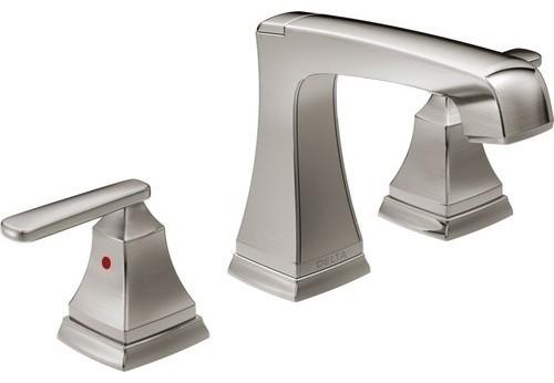 Delta Dryden Polished Nickel 2 Handle Widespread: Delta Ashlyn Two Handle Widespread Bathroom Faucet With EZ