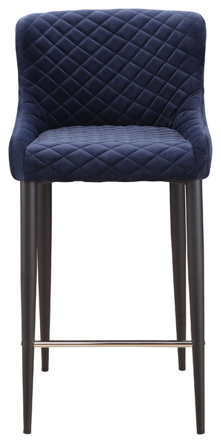 Etta Counter Stool, Navy Blue by Moe's Home Collection