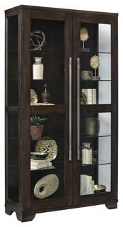 Pulaski Zadie Double Door Curio, Brown