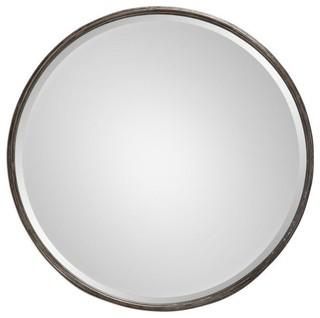 53e2d944152 Uttermost Nova Round Metal Mirror - Transitional - Wall Mirrors - by  Lighting World Decorators