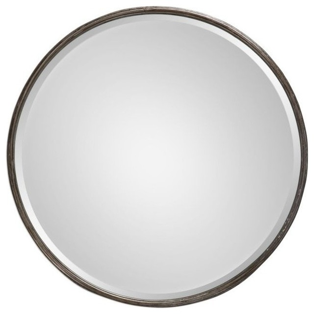 c0717d89bbe Uttermost Nova Round Metal Mirror - Transitional - Wall Mirrors - by ...