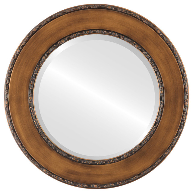Paris Framed Round Mirror Traditional Wall Mirrors