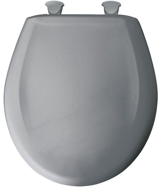 Shop Houzz Bemis Manufacturing Company Round Plastic Toilet Seat With Whisp