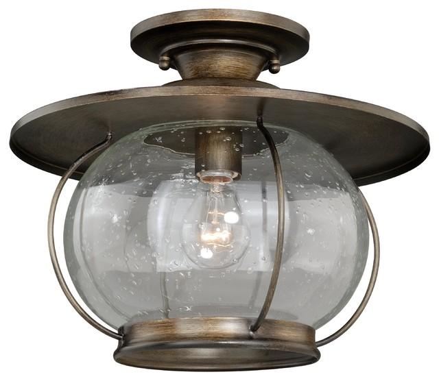"Jamestown 13 5"" Semi Flush Mount Farmhouse Flush mount Ceiling Light"