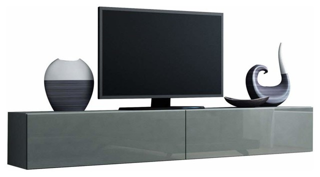 """Domadeco 180 Tv Unit, Floating Cabin, Entertainment Center, 55.1""""."""