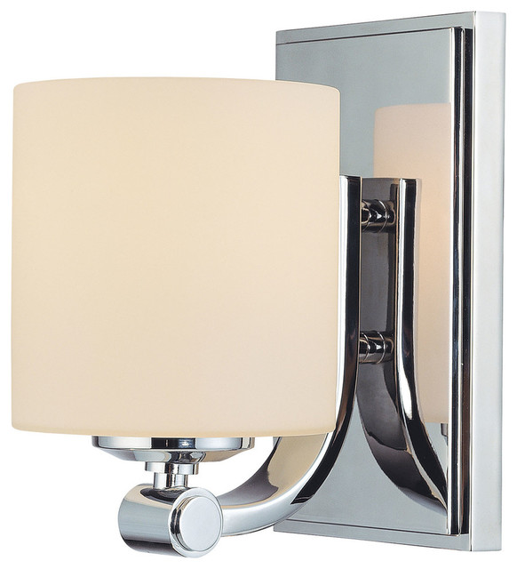 Slide 1-Light Bathroom Vanity Light, Chrome - Contemporary - Bathroom Vanity Lighting - by ...