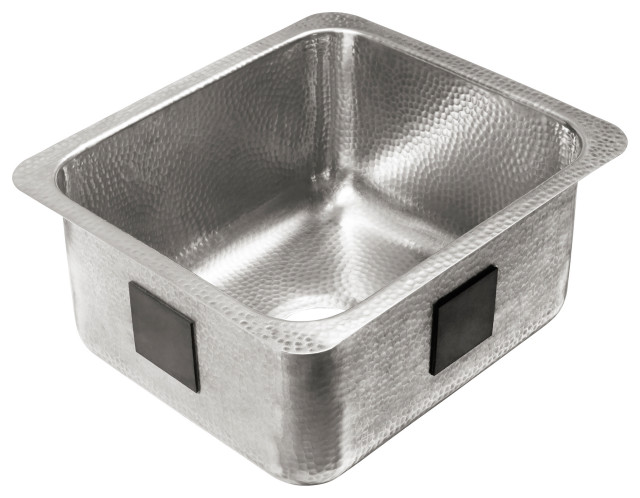 """Wilson Undermount Crafted Stainless 17"""" Bar Prep Sink, Brushed Stainless"""