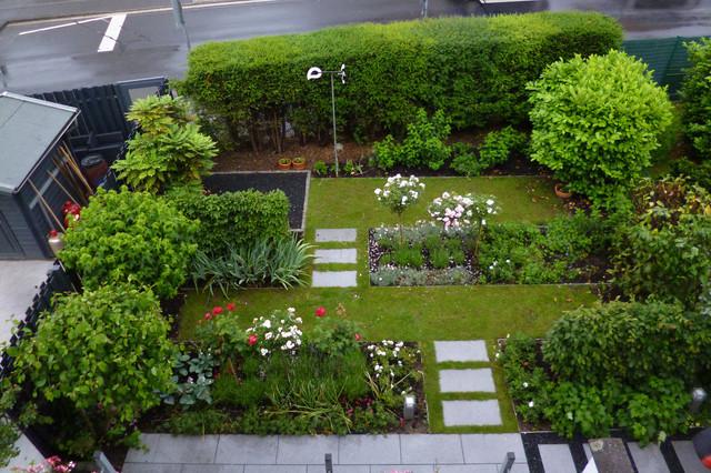 formaler reihenhausgarten minimalistisch - Formaler Reihenhausgarten