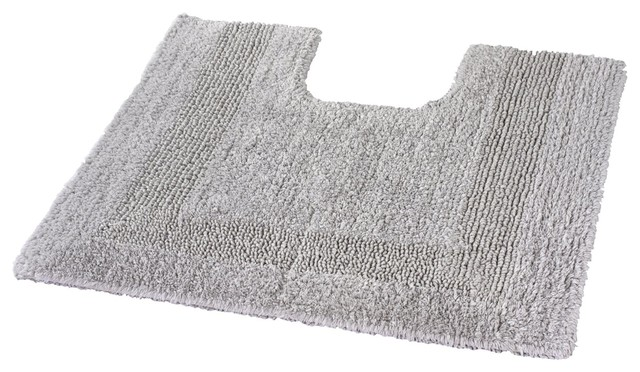 Silver Gray Reversible Cotton Bath Rug Arizona