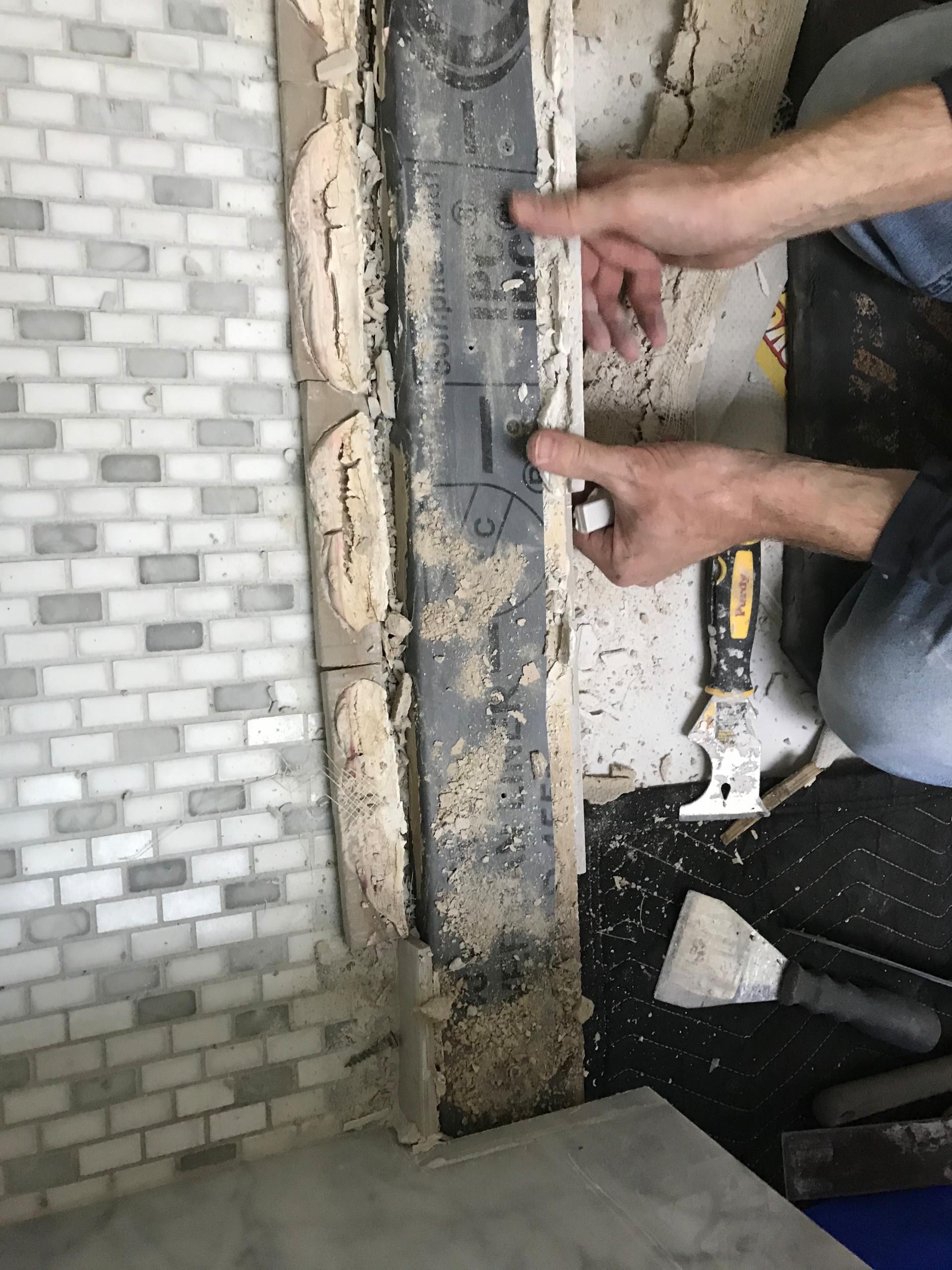 Severna Park Shower Leak and Tile Floor Repair Project
