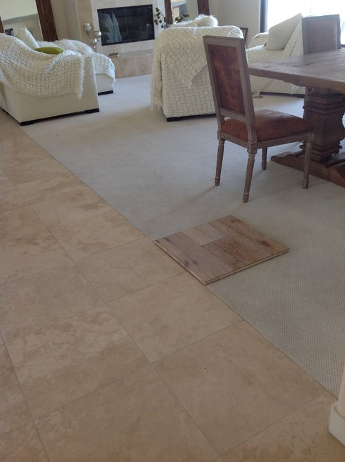 light rustic wood floor. We are looking to replace the carpeting with a rustic hardwood  Should we go wood or contemporary Light tone dark Thank you Does floor look good in house nice travertine