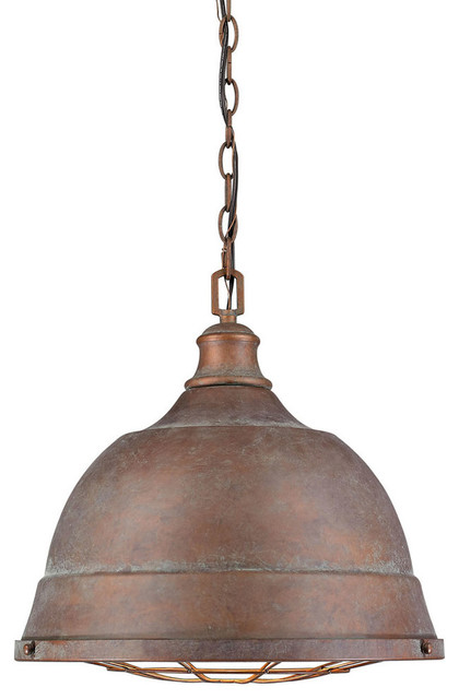 Bartlett 1-Light Pendant, Copper Patina