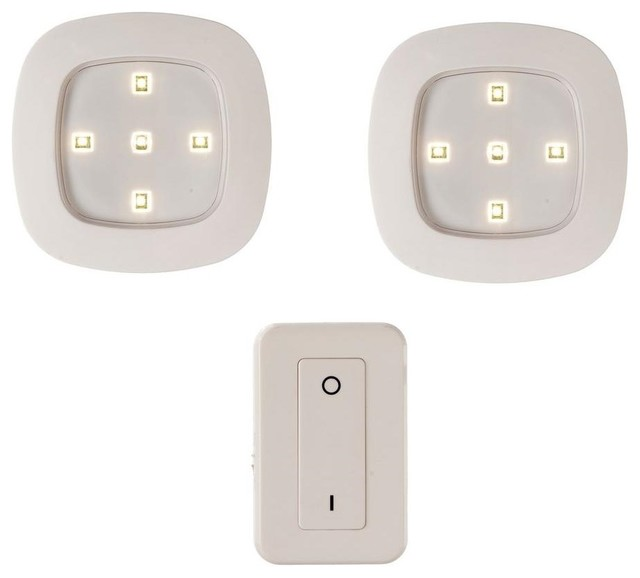 Fulcrum Wireless Remote Control LED Lighting System, White - Contemporary - Undercabinet ...
