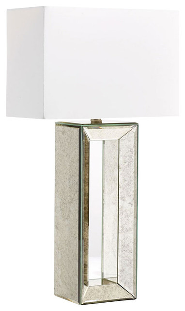 glass base table lamps farmhouse chic table rectangular mirrored glass base table lamp modern lamps