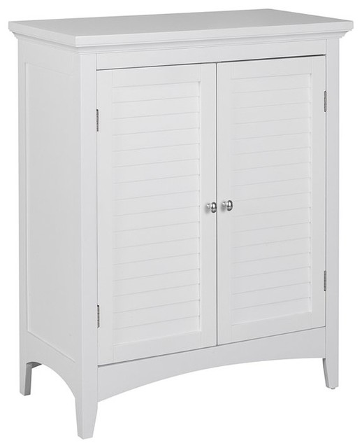 Super Elegant Home Fashions Slone 2 Door Floor Cabinet In White Home Interior And Landscaping Staixmapetitesourisinfo