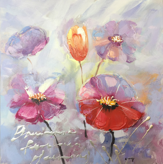 Wall Decor Painting A Beautiful Day with Flowers II