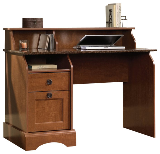 Sauder Graham Hill Desk in Autumn Maple Transitional Desks And