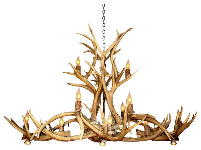 real antler chandelier elk real antler mule deer oblong inverted pool table chandelier light