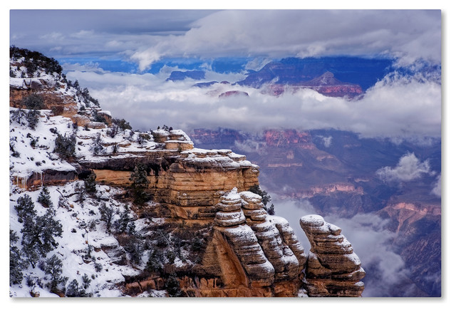 Mike Jones Photo Storm Clouds Mather Point Canvas Art
