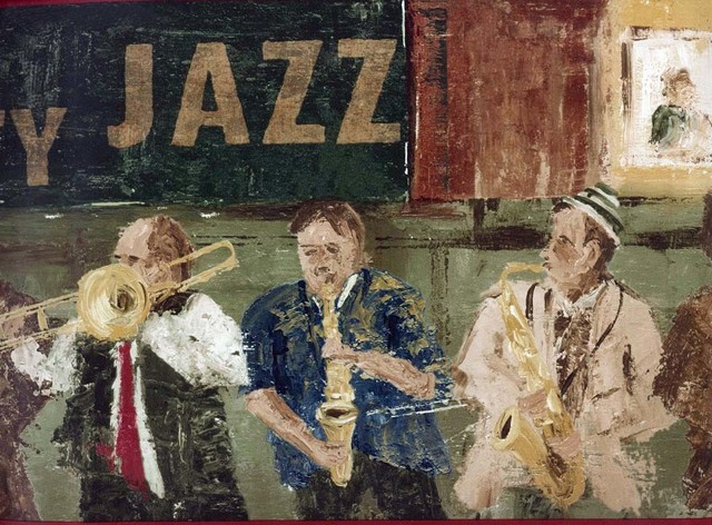 Jazz Musicians Wallpaper Border Roll Traditional